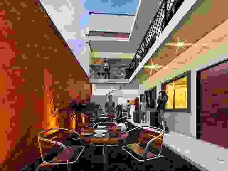 Hostal Oriente/ Área común Hoteles de estilo ecléctico de LOFT ESTUDIO arquitectura y diseño Ecléctico Cerámico