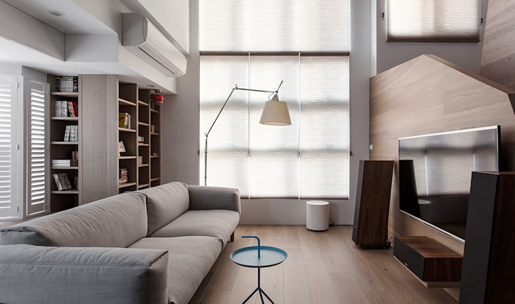 Salon scandinave par 禾光室內裝修設計 ─ Her Guang Design Scandinave