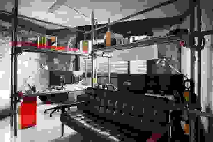 STARSIS Ruang Studi/Kantor Gaya Industrial Besi/Baja Grey