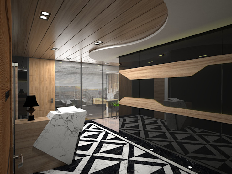 MAQAM OFFİCE Modern Çalışma Odası Murat Aksel Architecture Modern Ahşap Ahşap rengi
