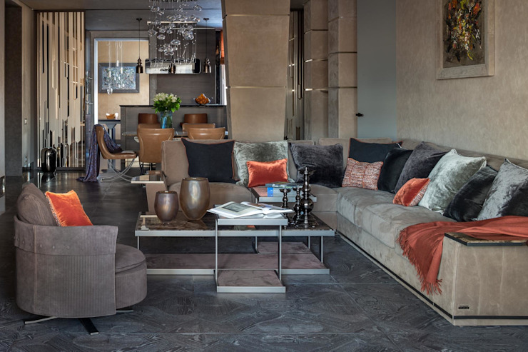 Специальная номинация от Royal Thermo Modern Living Room by Archiprofi Modern
