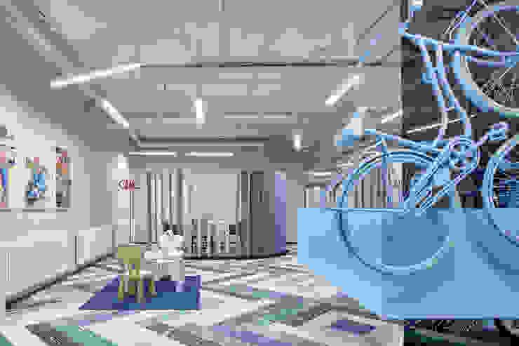 Специальная номинация от LUCIDO Modern Study Room and Home Office by Archiprofi Modern