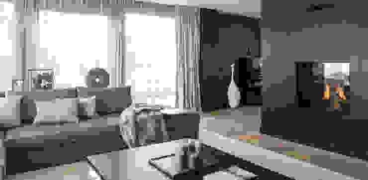 现代客厅設計點子、靈感 & 圖片 根據 choc studio interieur 現代風