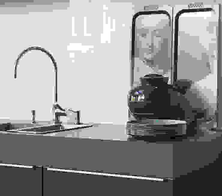 現代廚房設計點子、靈感&圖片 根據 choc studio interieur 現代風