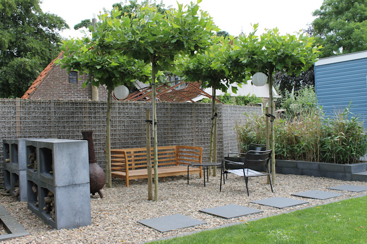 Leuke tuin in Friesland Moderne tuinen van Joke Gerritsma Tuinontwerpen Modern