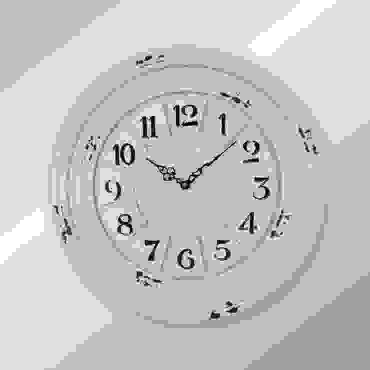 Eskitme Duvar Saati 10 40 cm Otantik Çarşı Kırsal/Country