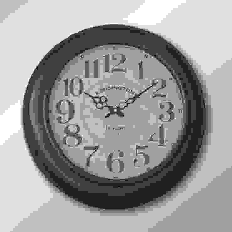 Eskitme Duvar Saati 08 47 cm. Otantik Çarşı Kırsal/Country