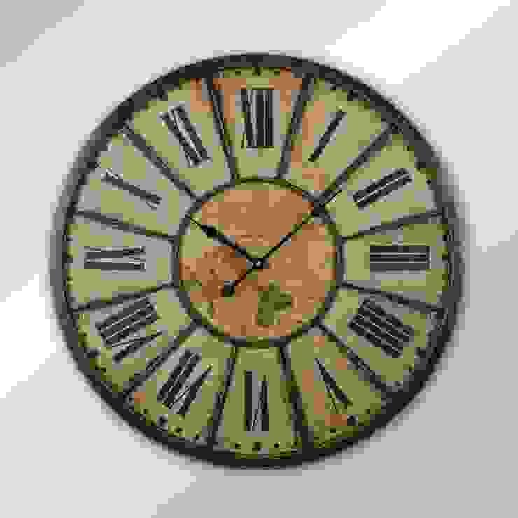 Eskitme Duvar Saati 14 60 cm. Otantik Çarşı Kırsal/Country