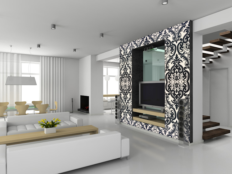 Decorative Tiles Modern Living Room by Elalux Tile Modern Marble