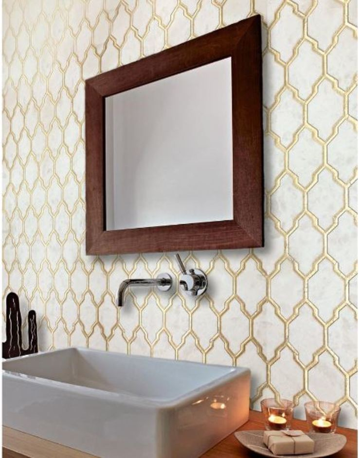 Decorative Tiles Modern Bathroom by Elalux Tile Modern Metal