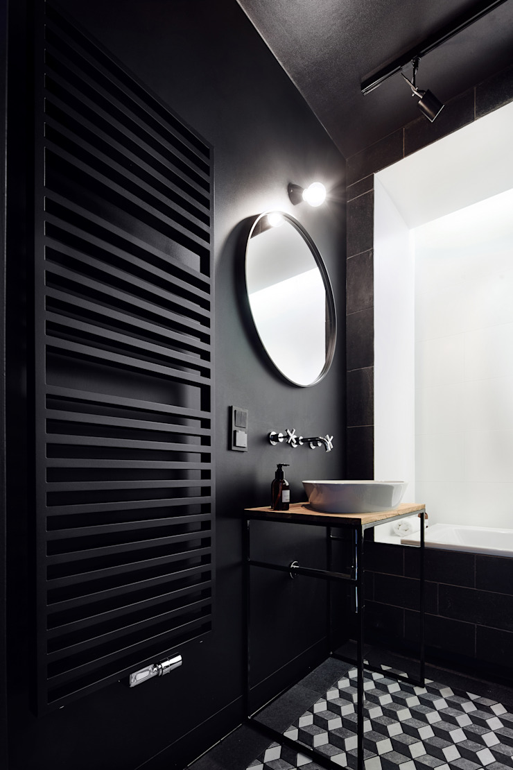 Daniel Apartment Minimalist style bathroom by BLACKHAUS Minimalist Stone