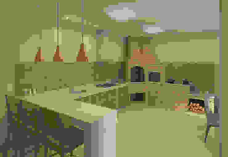 Área Gourmet em Divinópolis - MG by Filipe Castro Arquitetura | Design Minimalist Granite