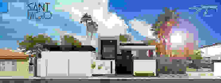 Facha Principal Casas minimalistas de SANT1AGO arquitectura y diseño Minimalista Metal