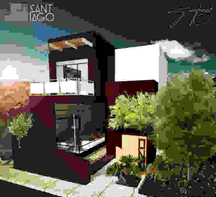 Casa-Habitacion Casas minimalistas de SANT1AGO arquitectura y diseño Minimalista Ladrillos