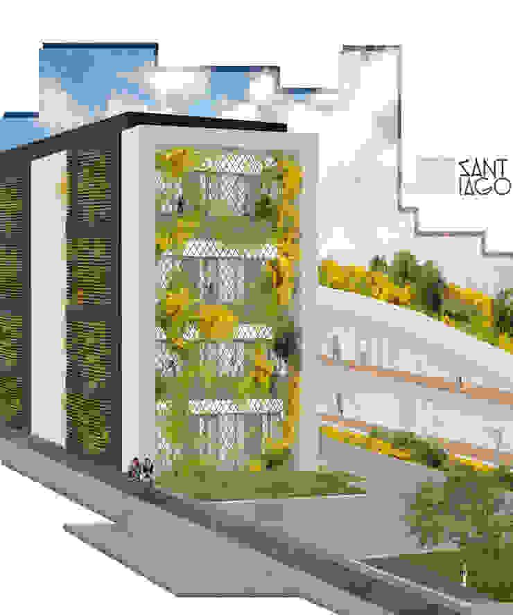 Edificio Publico Estudios y despachos minimalistas de SANT1AGO arquitectura y diseño Minimalista Metal