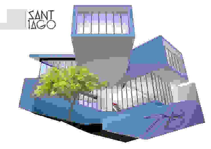 Propuesta para Edificio de Colegio deArquitectos Tecate Estudios y despachos minimalistas de SANT1AGO arquitectura y diseño Minimalista Metal