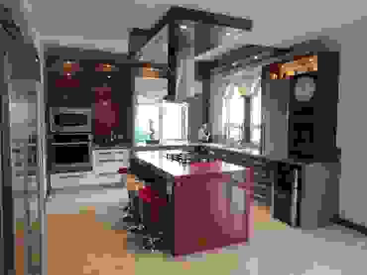 Cocinas de estilo  de arketipo-taller de arquitectura, Moderno
