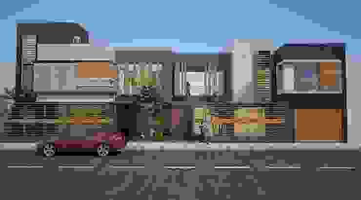 vivienda bifamiliar Casas modernas: Ideas, diseños y decoración de Diseño Integral y Construcción S.A.C. Moderno