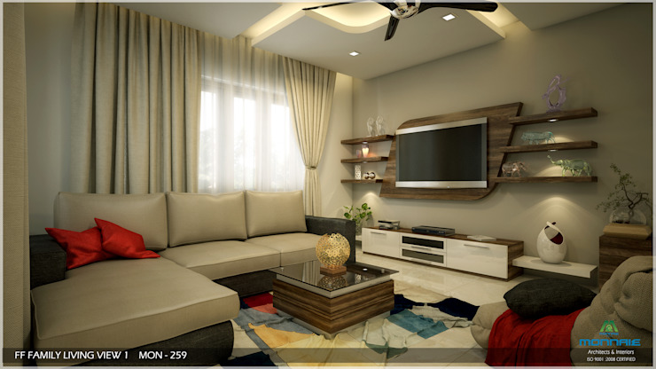 Modern Contemporary Modern living room by Monnaie Architects & Interiors Modern