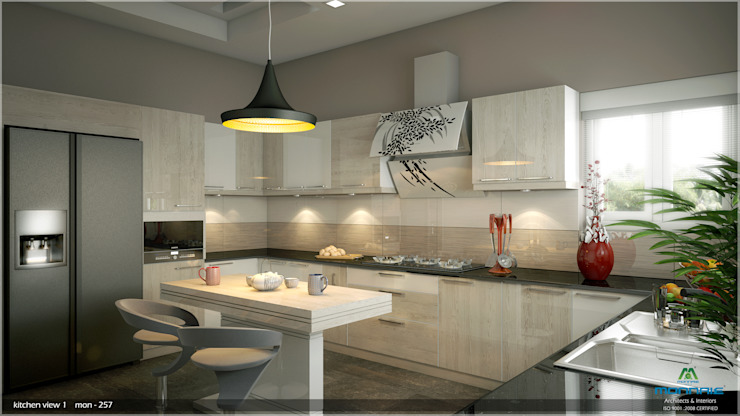 Interiors in Ultra Modern Style Modern kitchen by Monnaie Architects & Interiors Modern