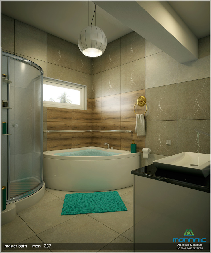 Interiors in Ultra Modern Style Modern bathroom by Monnaie Architects & Interiors Modern