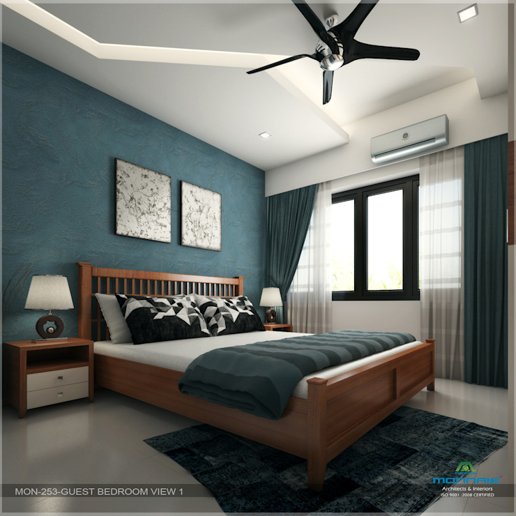Fabulous Contemporary Interior Design Modern style bedroom by Premdas Krishna Modern