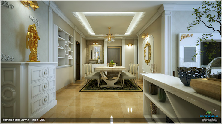 Interiors in Mixed Style...:  Dining room by Premdas Krishna