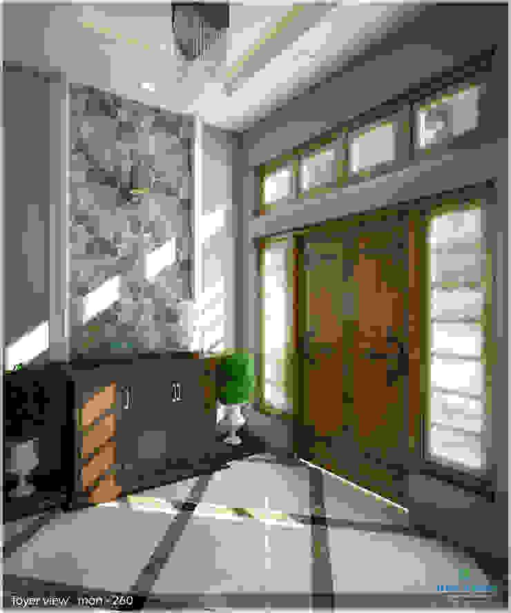 Victorian + Modern Contemporary Modern corridor, hallway & stairs by Premdas Krishna Modern