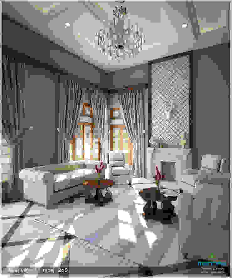 Victorian + Modern Contemporary Modern living room by Premdas Krishna Modern