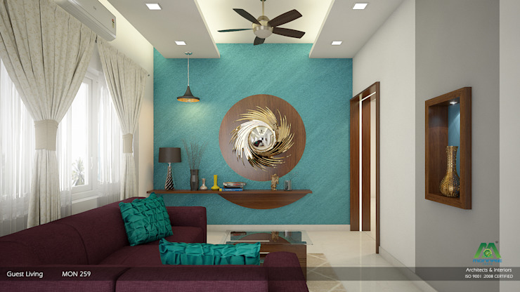 Modern Contemporary Modern living room by Premdas Krishna Modern