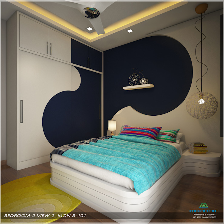 Modern Contemporary Modern style bedroom by Premdas Krishna Modern