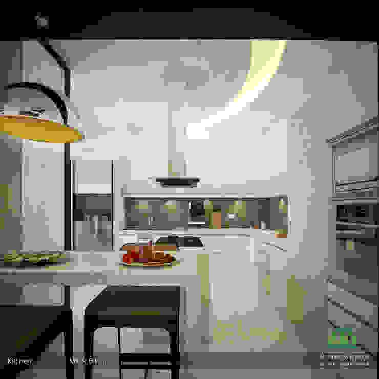 Modern Contemporary Premdas Krishna Modern kitchen