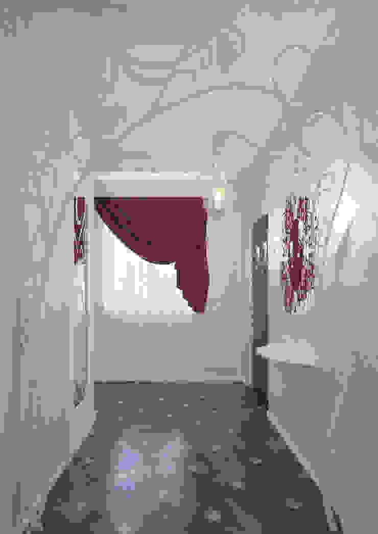 Eclectic style corridor, hallway & stairs by Студия дизайна интерьера 'Золотое сечение' Eclectic Tiles