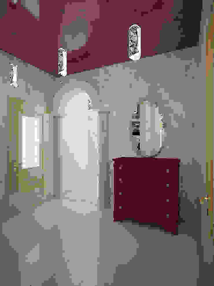 Eclectic style corridor, hallway & stairs by Студия дизайна интерьера 'Золотое сечение' Eclectic Ceramic