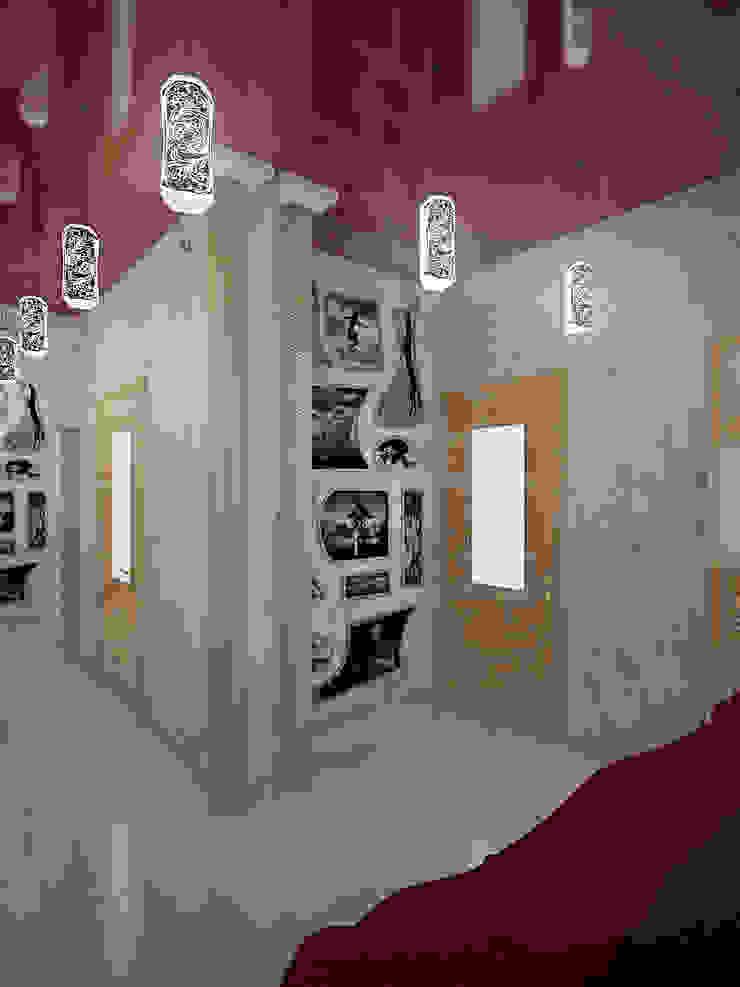 Eclectic style corridor, hallway & stairs by Студия дизайна интерьера 'Золотое сечение' Eclectic