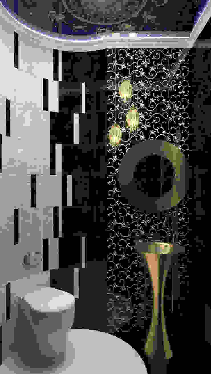 Eclectic style bathroom by Студия дизайна интерьера 'Золотое сечение' Eclectic Tiles
