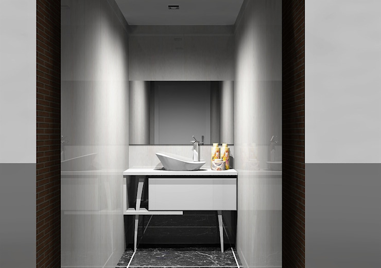 Moveis de banho Casas de banho modernas por Amplitude - Mobiliário lda Moderno