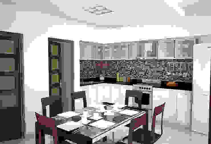 Cocina-Comedor diario Cocinas modernas: Ideas, imágenes y decoración de Proyectos y Planos Online Moderno