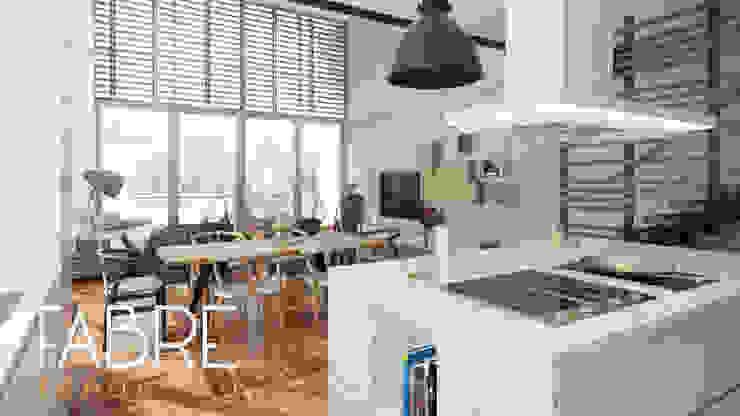 LOFT - INTEGRACION Cocinas de estilo moderno de FABRE STUDIO Moderno