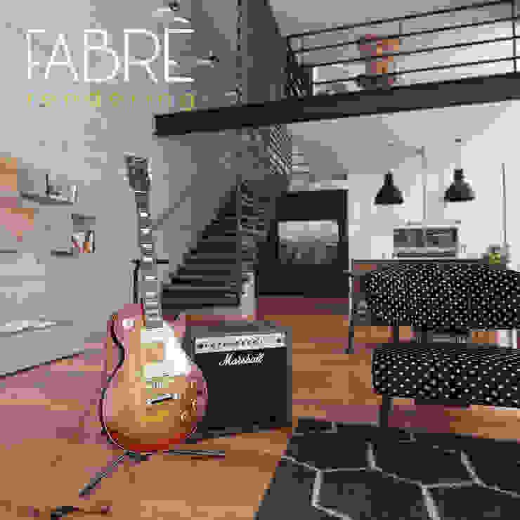 LOFT - DETALLES: Salas de entretenimiento de estilo  por FABRE STUDIO, Moderno