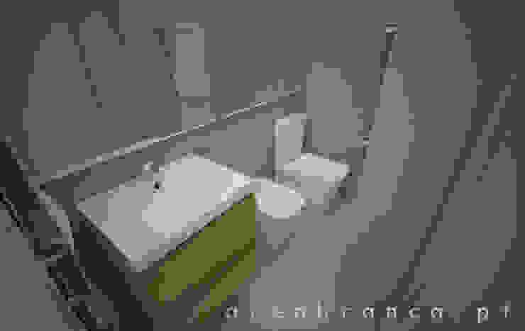Casa de Banho Suite Depois por Areabranca Moderno