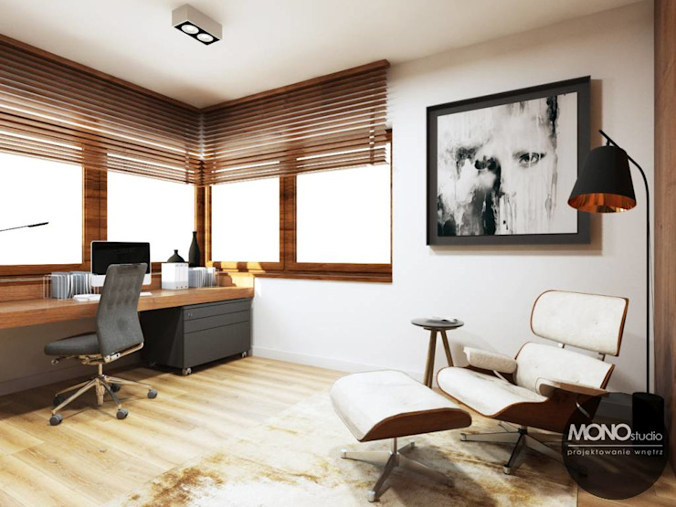 Modern study/office by MONOstudio Modern