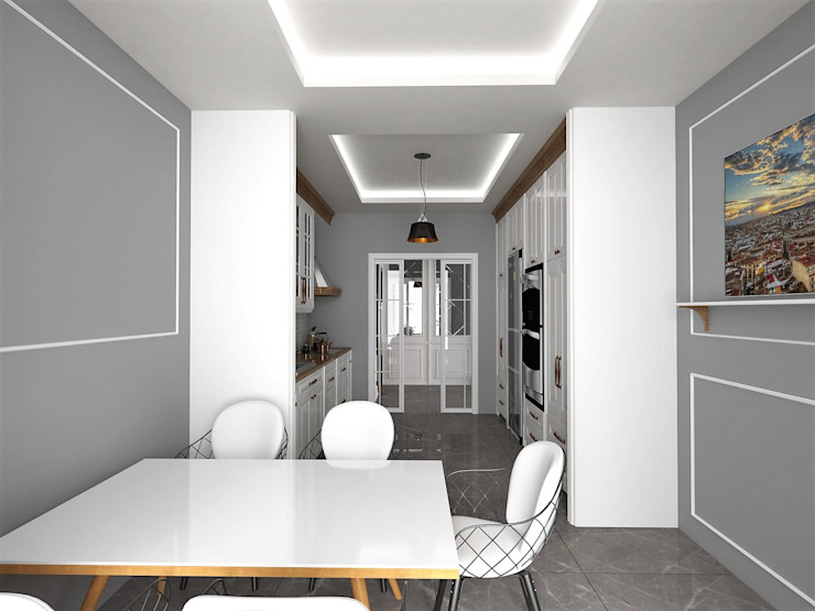 Murat Aksel Architecture CuisinePlacards & stockage Bois Blanc