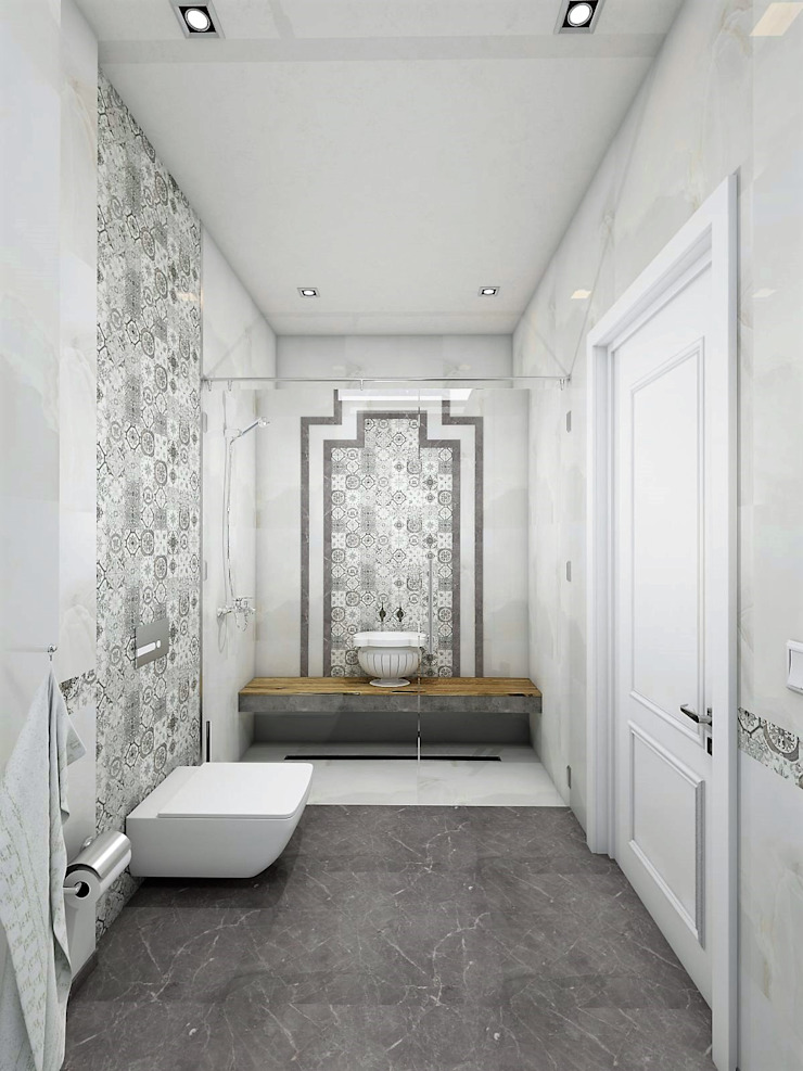 Murat Aksel Architecture BathroomDecoration Granite White