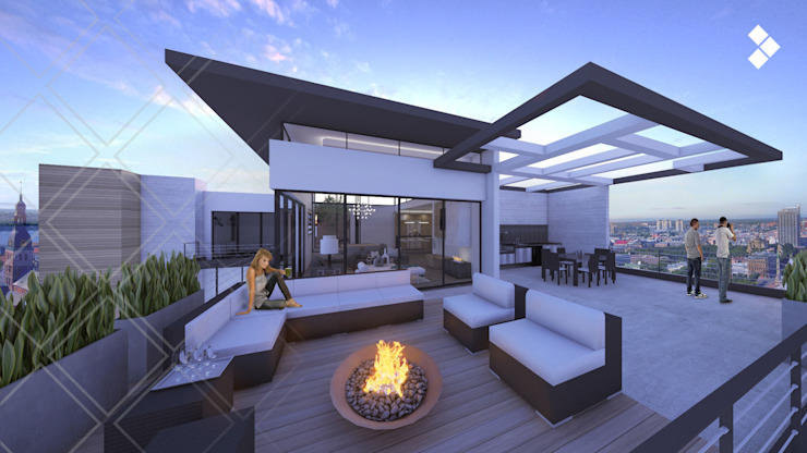 Terrace by CDR CONSTRUCTORA, Modern