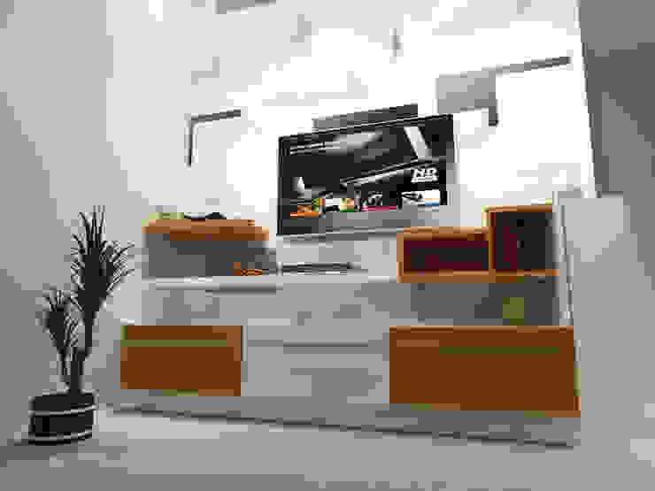 Salas de estilo moderno de EBEESDECOR Moderno Contrachapado