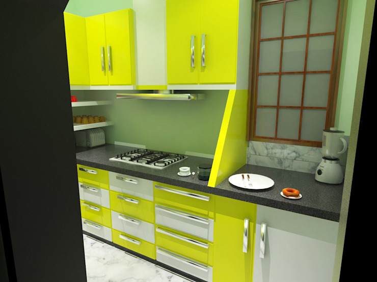 Modular Kitchen Modern kitchen by EBEESDECOR Modern Plywood