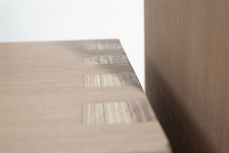 Detail rug/zitting spanningsveld van Joyce Bark Minimalistisch Multiplex