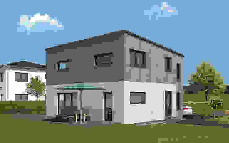 2 Geschosser mit Pultdach und Holzoptik bauen.wiewir GmbH & Co KG