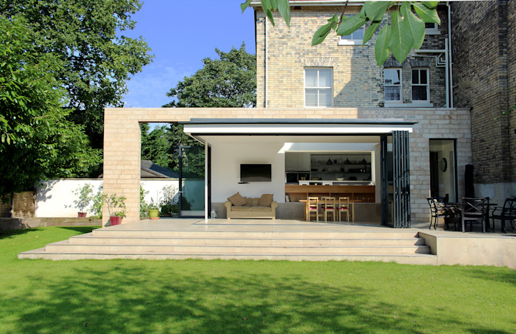 Project 349 Modern houses by Project 3 Architects Modern Limestone